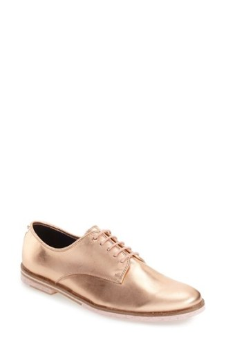 ted baker gold oxfords