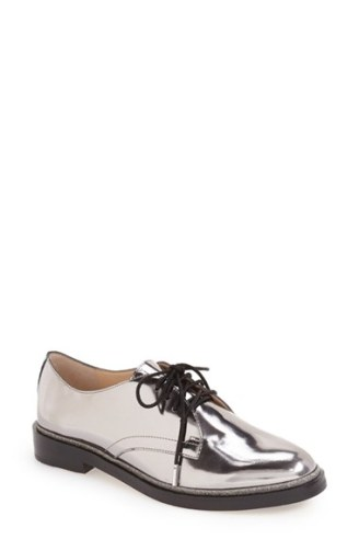 vince camuto silver oxfords